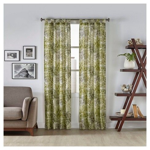 Purchasing window curtains just got easier. Update any living space with decorative Pairs to Go™ Marley Tropical curtain panels. Perfect for the living room, dining room or bedroom, these versatile curtains are an easy and inexpensive way to add color and style when decorating your home. Panels feature a palm frond print with a painterly aesthetic. Pattern is random cut, but matches in pairs. Each package includes two easy-to-hang rod pocket curtain panels, each measuring 30 inches w...