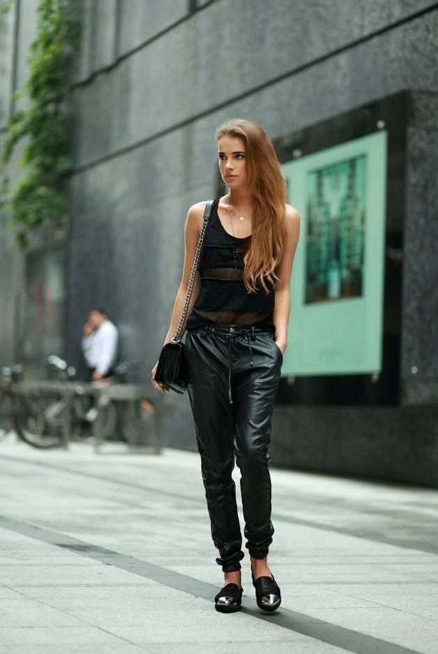 Bright Black Faux Leather Joggers  # #Maffashion #Summer/Pre Fall Trends #It-Girl #Best Of Summer/Pre Fall Apparel #Joggers Faux Leather #Faux Leather Joggers #Faux Leather Joggers Bright Black #Faux Leather Joggers Clothing #Faux Leather Joggers 2014 #Faux Leather Joggers Apparel #Faux Leather Joggers How To Style