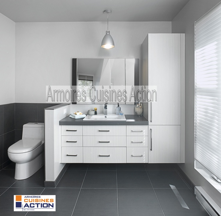 Chocolat blanc c 39 est la couleur de la m lamine vanit for Armoire salle de bain blanc