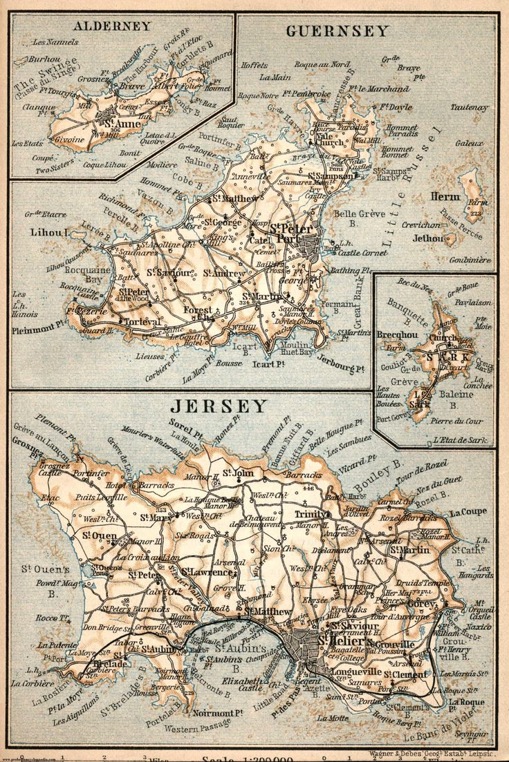 Channel Islands: Jersey, Guernsey, Alderney & Sark.