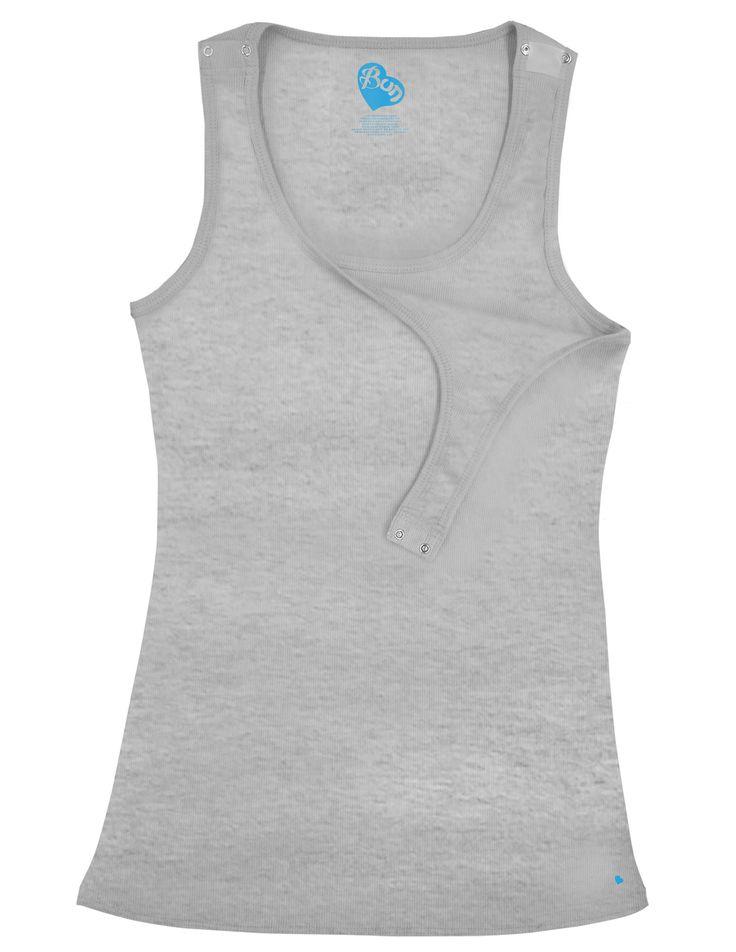 Bun Maternity & Nursing Tank {Grey, White or Black} – Milk & Baby $45