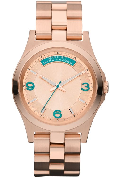 Marc by Marc Jacobs Ladies Rose Gold Tone Steel Bracelet Watch MBM3163
