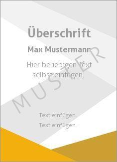 Muster Zertifikat, Diplom, Urkunde Rahmen, Streifen Dreiecke, Orange, Grau