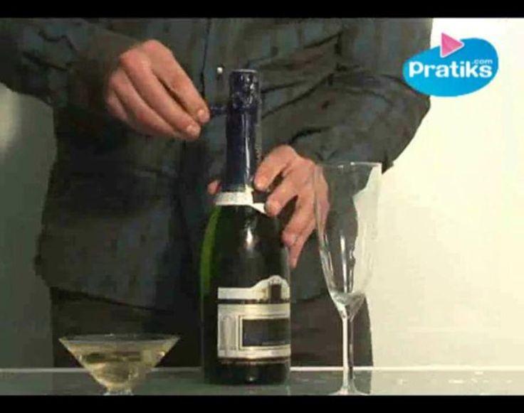 Comment ouvrir une bouteille de champagne secouée