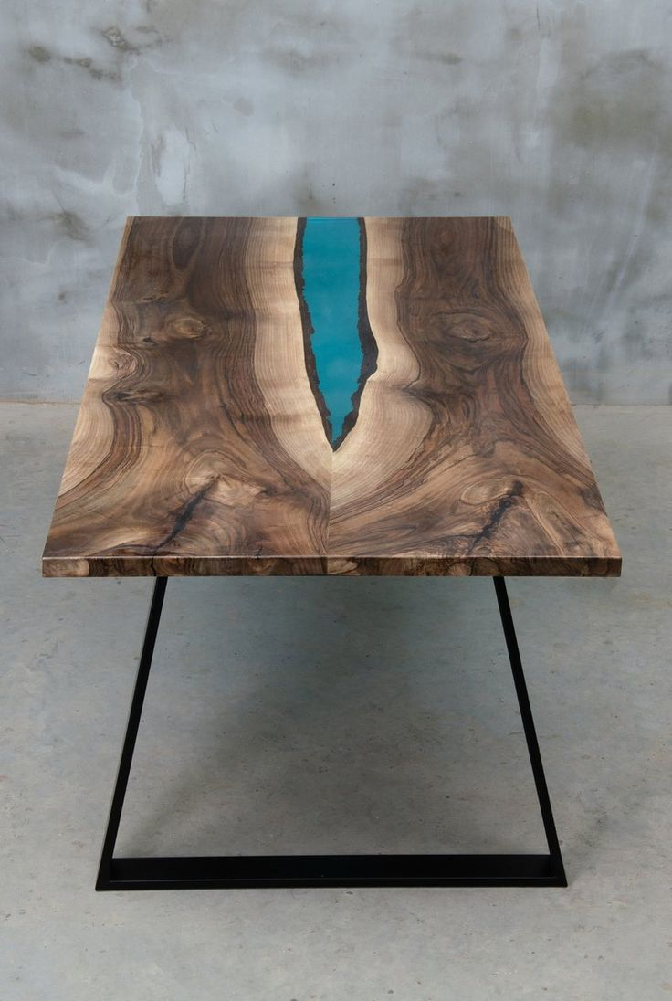 LIVE EDGE Dining Table, epoxy resin table, epoxy walnut table, walnut table, live edge table, river table, resin table