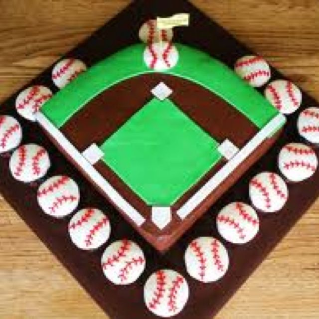 Top Baseball Cakes: 25+ Best Ideas About Sports Birthday Cakes On Pinterest