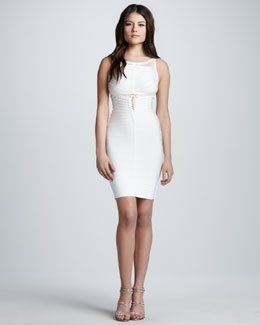 Herve Leger Sleeveless Dress with Cutouts $1850