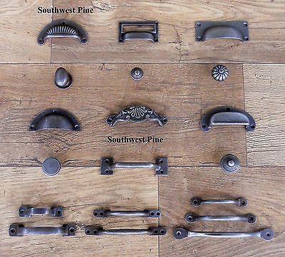 Cast Iron Cup Handle Kitchen Cupboard Door Handle Knob Antique Iron Finish