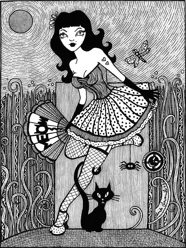 adult colouring page coloring kiki monique silver moon edition by anita inverarity