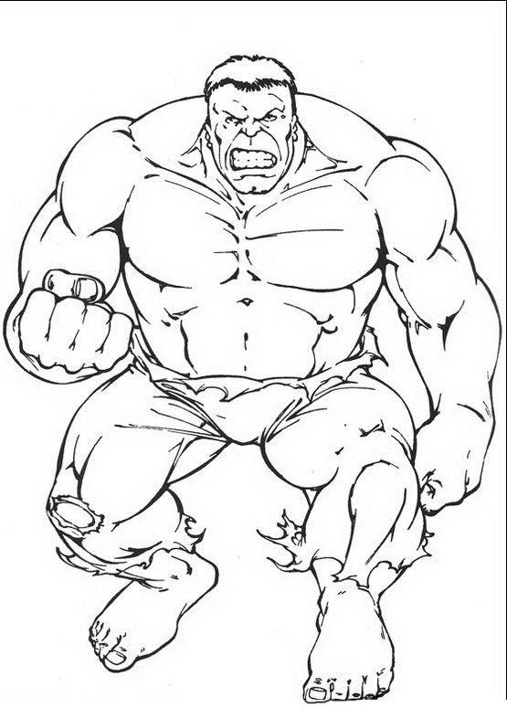 Coloriage Dessins. Hulk 3