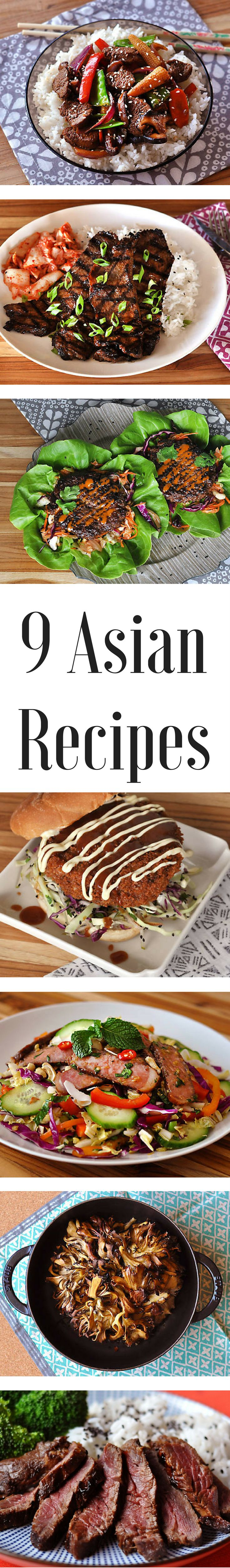 Sometimes you just crave the heat of Thai food, the crunch of Japanese katsu, or the savory flavors of Korean barbecue. We know how it feels! The umami-rich dishes often beckon us to our favorite Asian restaurants, or to call for take out. But we have nine recipes that will satisfy your hankering for ethnic cuisine – and they are easy to make at home.