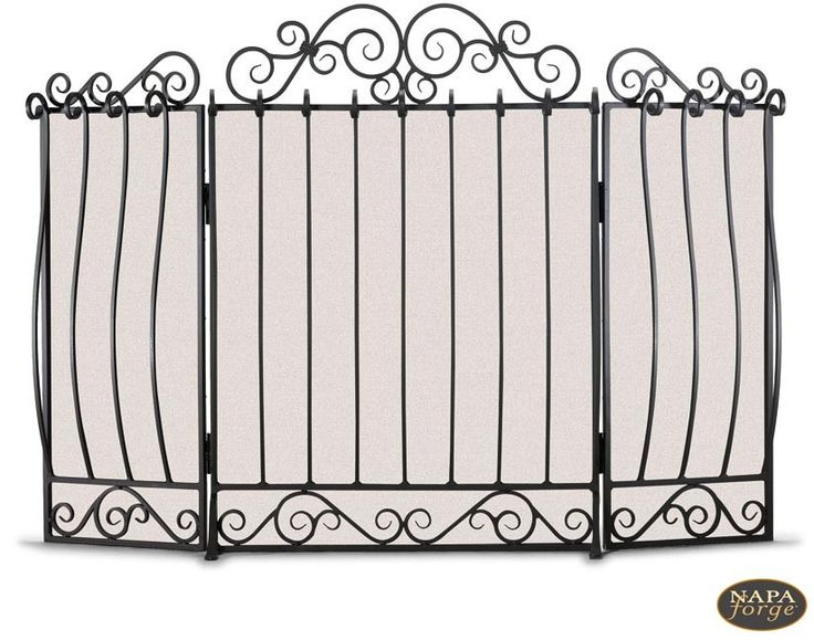 Add Mediterranean style to your hearth with the Villa Carlotta Fireplace Screen. Made from hand-forged square stock and featuring elegant iron scrollwork, this sturdy screen is ideal for larger fireplaces.