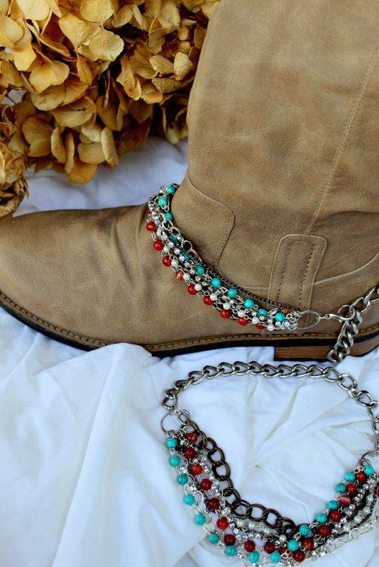 What a great idea: Boot Bracelet...08. $45.00, via Etsy.