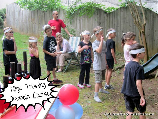 Ninja training- obstacle course
