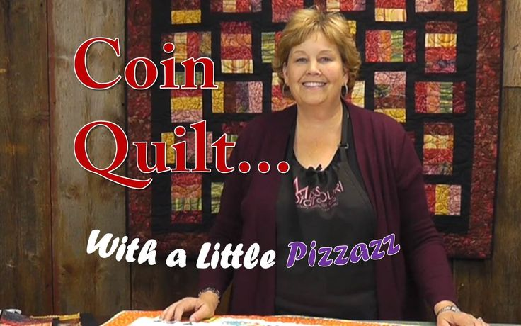 """The Coin Quilt with a Little Pizzazz, 20 strips from a Jelly Roll for 50""""x50"""" and about 1 yard solid fabric for sashing."""