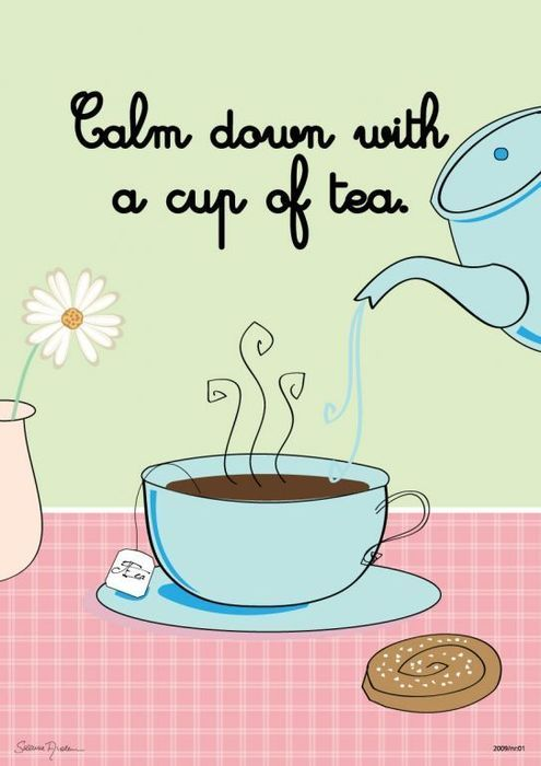 I savor my tea time especially when shared with a friend!