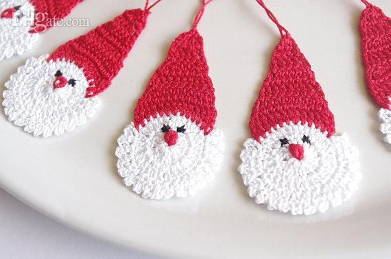 Crocheted Santa Claus ornaments for 54¢