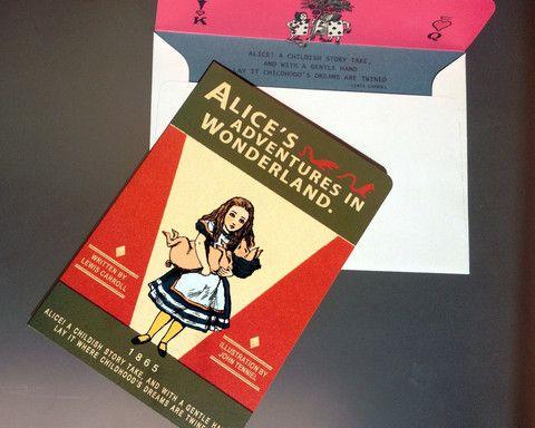 Greeting card: Alice in Wonderland