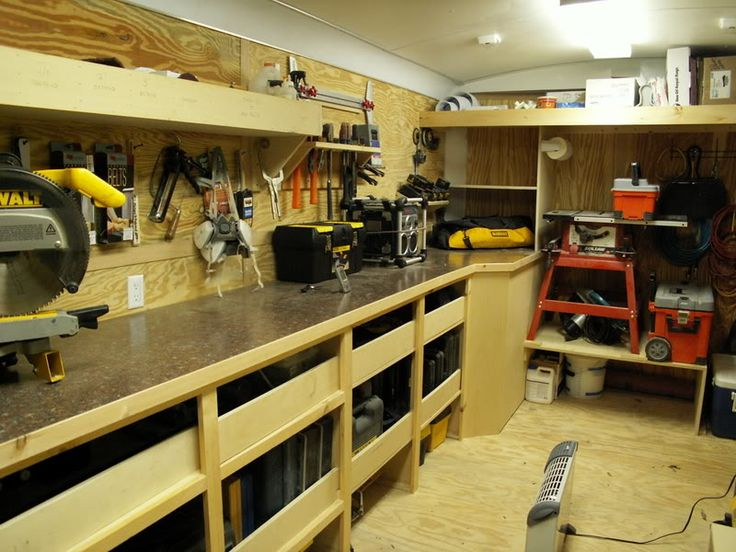 Contractor work trailer set ups show us your shop for Rv workshop