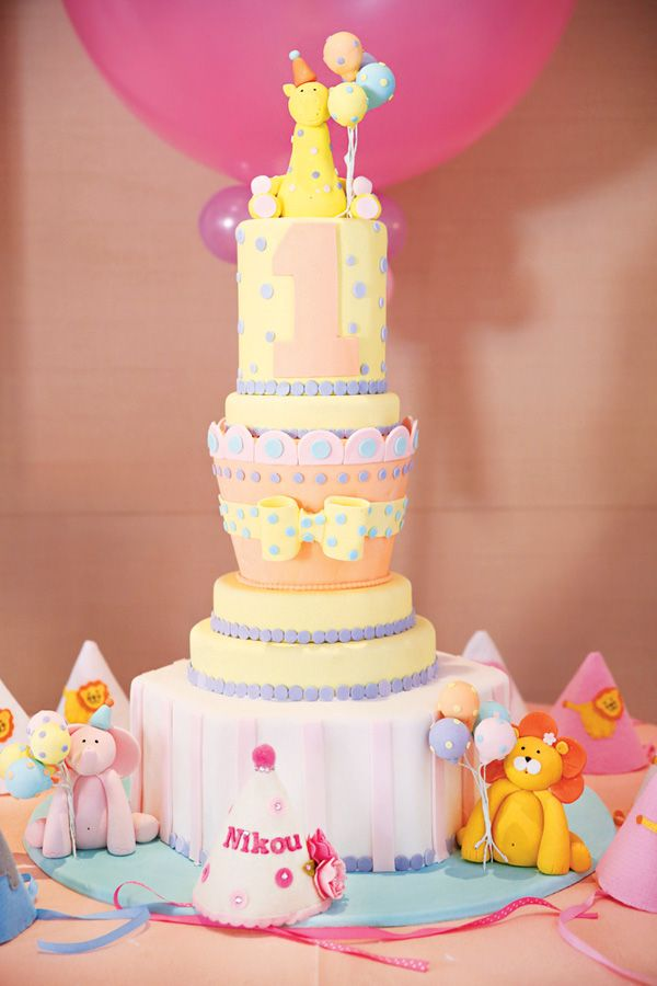 Gorgeous Pink & Gold Wild Animals First Birthday