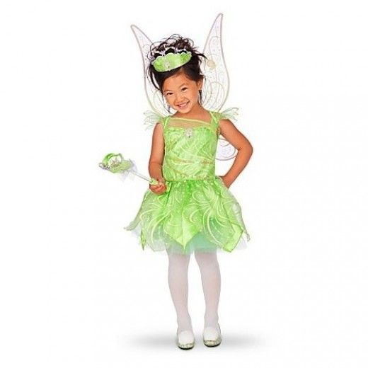 Glow in the dark Tinkerbell Fairy Halloween costumes not only make little girls look magically like a real fairies, but they are also much safer should your child go out after dark. Whether the costume itself features glow in the dark details, or just the wings, the transformation is fantastic and little girls will adore it.