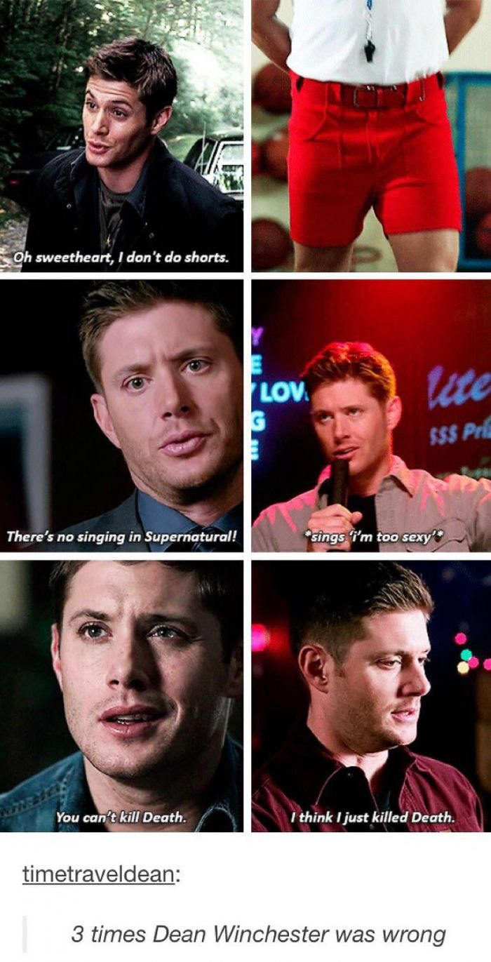 3 times Dean Winchester was wrong funny pics, funny gifs, funny videos, funny memes, funny jokes. LOL Pics app is for iOS, Android, iPhone, iPod, iPad, Tablet
