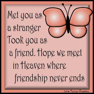 Online friends . . .