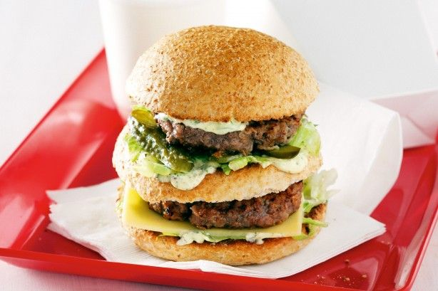 Take away the guilt with this low-fat kangaroo meat version of a classic fast food favourite.