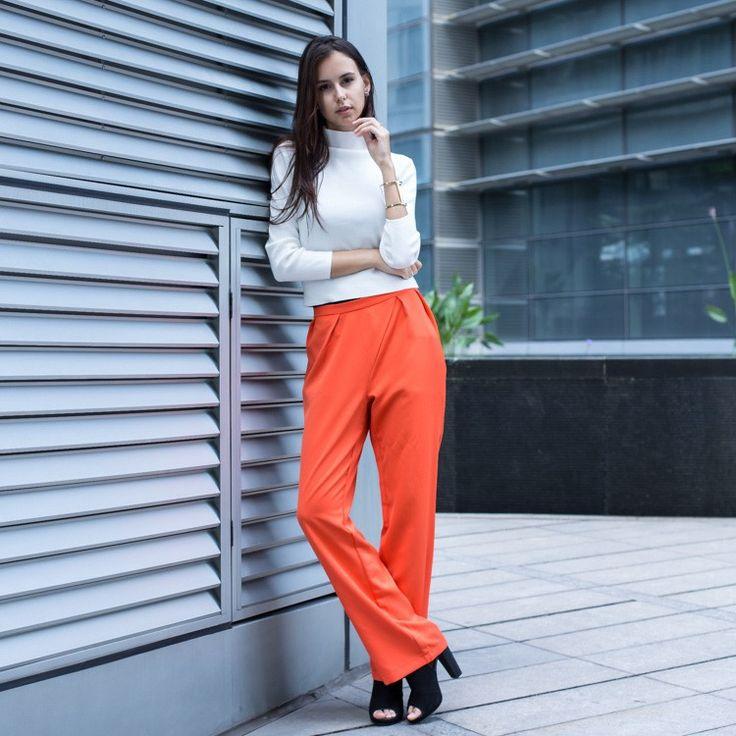Palazzo Orange Trousers