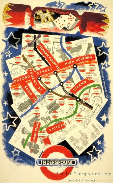 """Why is a railway time-table like life?"" by Clifford Ellis and Rosemary Ellis, 1935 for London Transport"