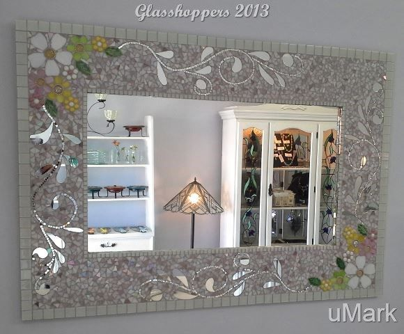 Vintage style mirror by Glasshoppers 2013 www.glasshoppers.co.za