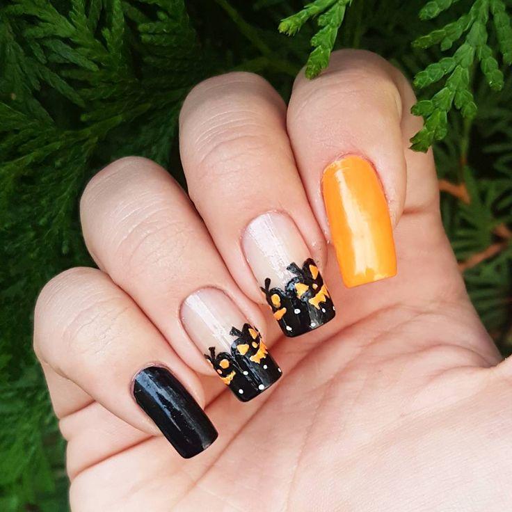 Domi Králiková (@domi_nailart) Pumpkin day🎃 #halloween #halloweennails #autumncolours #autumn #orange #orangenails #autumnnails #pumpkin #pumpkinnails #blacknails #orangenails #frenchmanicure #longnails #naturalnails #nailart #nailartlover #nails #nailartist #nailartclub #nailartideas #nailpainting #pinterest #pinit #pin #pinteresting #follow #followmenow