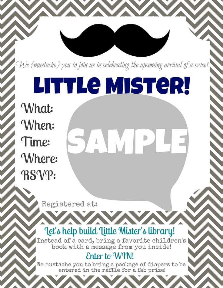 Free Printable Little Man Birthday Invitation orderecigsjuiceinfo