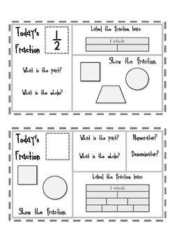 FREE! ~Grade 3 Common Core: Fractions~ Two half sheet freebies! Use at the beginning of your 3rd grade fractions unit to master equal parts and partitioning. (Heidi Bee @ TPT)