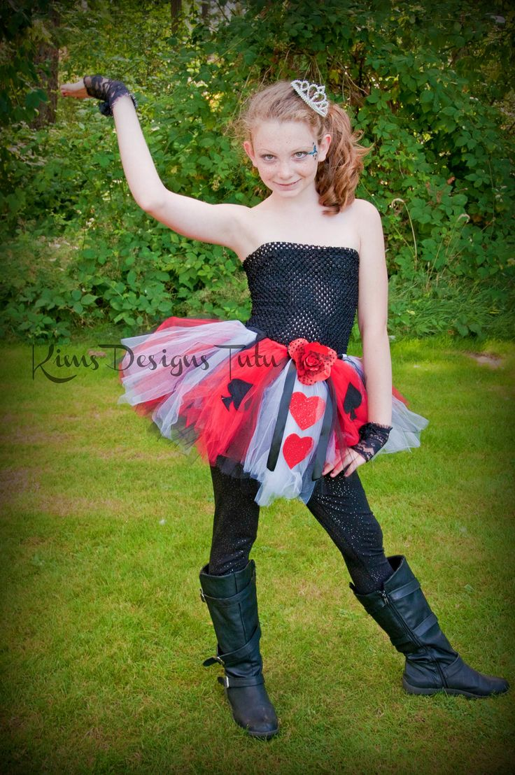 Queen Of Hearts Tutu Dress--6 Months Up To Pre-Teen -4463