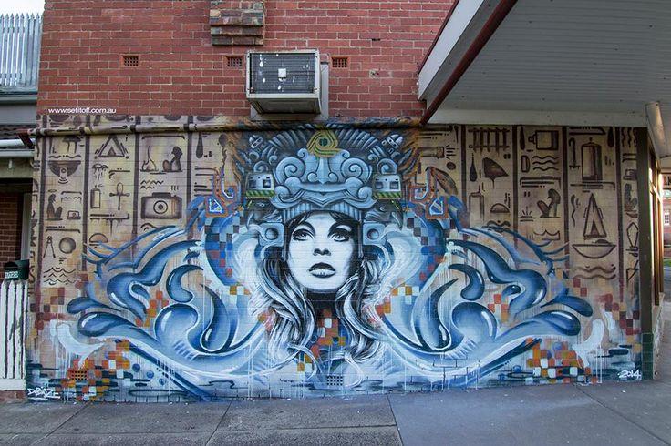 """Street Art by SKR3AM  """"Underground Goddess v1.0"""""""