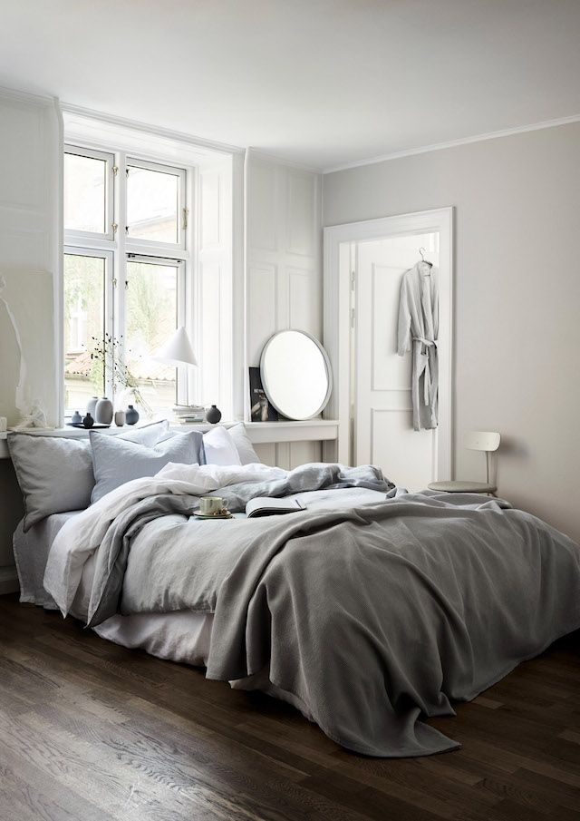 The washed linen bedding though.