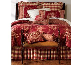 country house toile bedding love this look