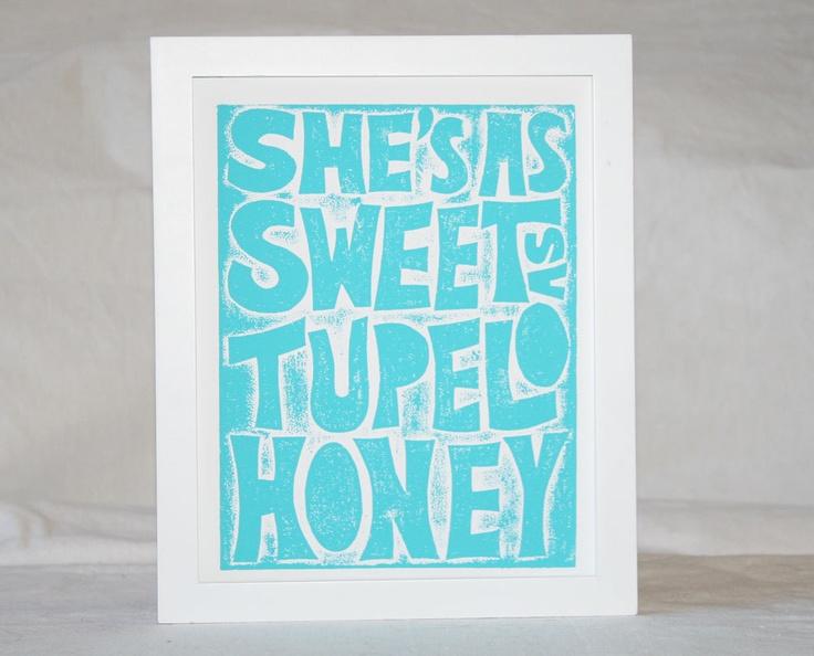 Tupelo honey lyric print van morrison inspired fine art - In the garden lyrics van morrison ...