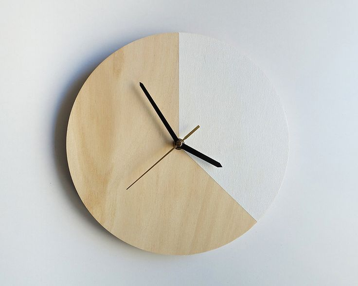 Mr. Wolf in White: Wall Clock // Plywood with colourblocking by TheCuriousCraftsmen on Etsy https://www.etsy.com/listing/220881626/mr-wolf-in-white-wall-clock-plywood-with