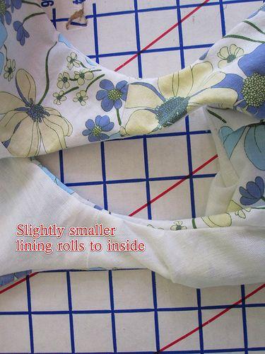 All-Machine Clean-Finish Sleeveless Bodice Lining Tutorial