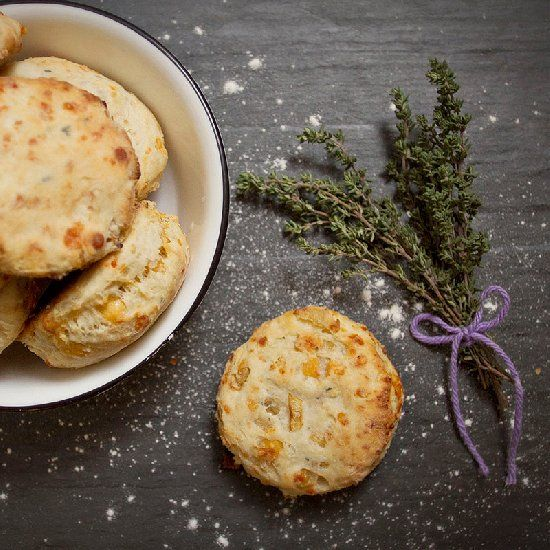 Caramelized Mushroom And Onion Biscuits Recipe — Dishmaps