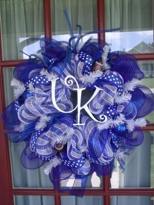 Kentucky Wildcat Deco Mesh Door Wreath: Uk Wreaths, Deco Wreaths, Diy Crafts, Deco Mesh Wreaths, Craft Ideas, Kentucky Wildcats