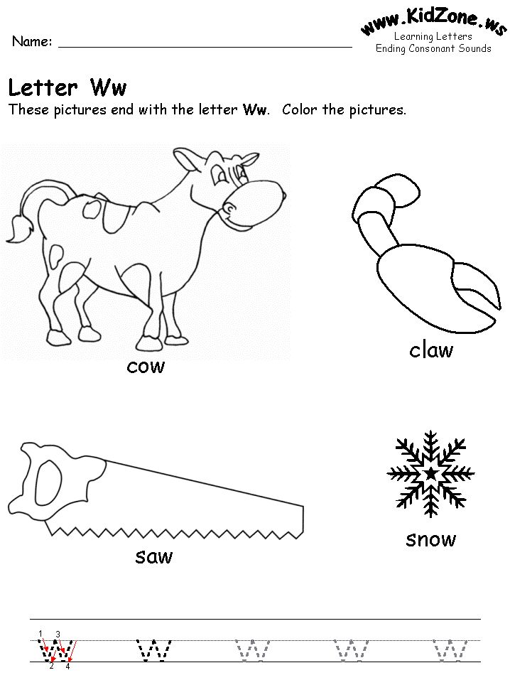 127 Best Images About Homeschool Letter Ww On Pinterest