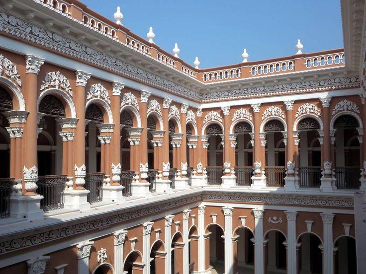 The Sadarbari Palace (1901) at Sonargaon near Dhaka, Bangladesh, has several imposing interior courtyards.