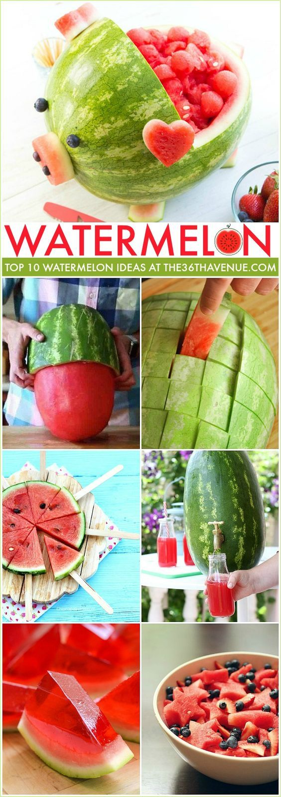 Watermelon Hacks and recipes that you can make. So many clever ideas. Pin it NOW…