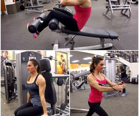 12 days of workouts - good site for exercises and food