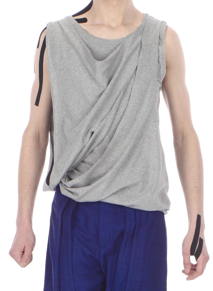 Detail: draped top ( cotton jersey)