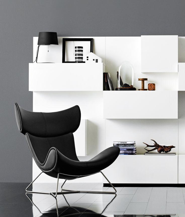 Black Leather Designer Chair Imola. Design Icon Imola Customized With Black  Leather