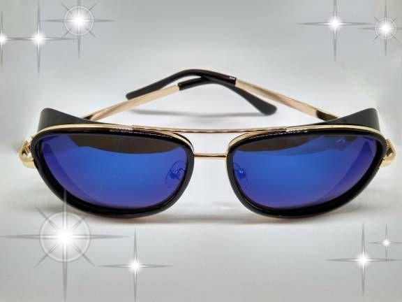 7b7a92f45 óculos de sol estilo usado pelo personagem Tony Stark no filme homem de  ferro 3.